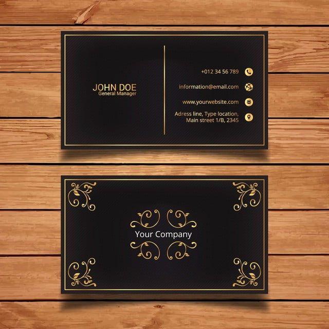 Golden Luxury Business Card Vector Business Card Luxury Business Cards Elegant Business Cards