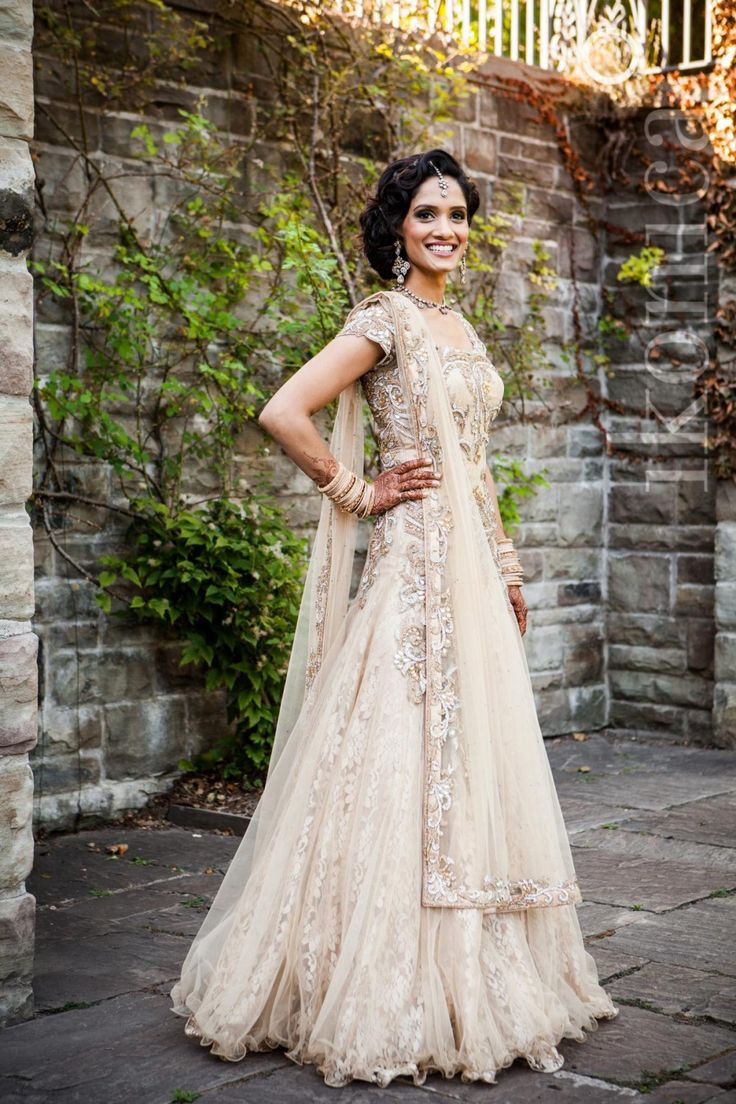 white and silver lengha