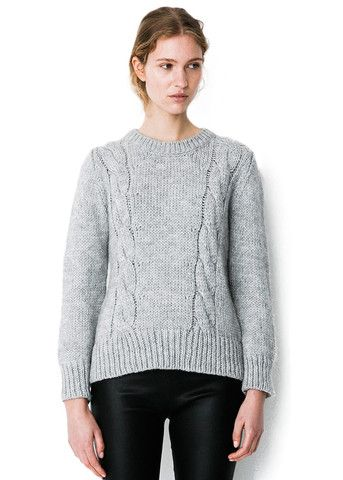 Storm & Marie Birch Blouse light grey melange - grovstrikket sweater – acorns