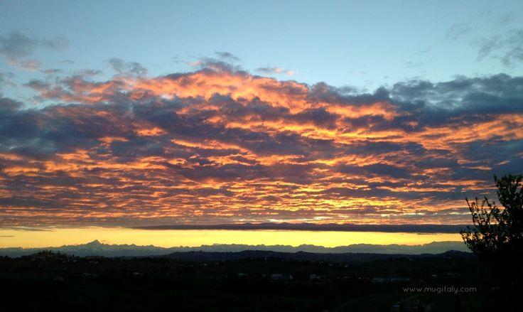 Monviso - Langhe - Italy sunset