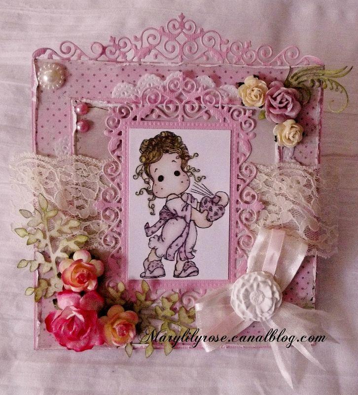 Carte magnolia pour Paradise of Stamps