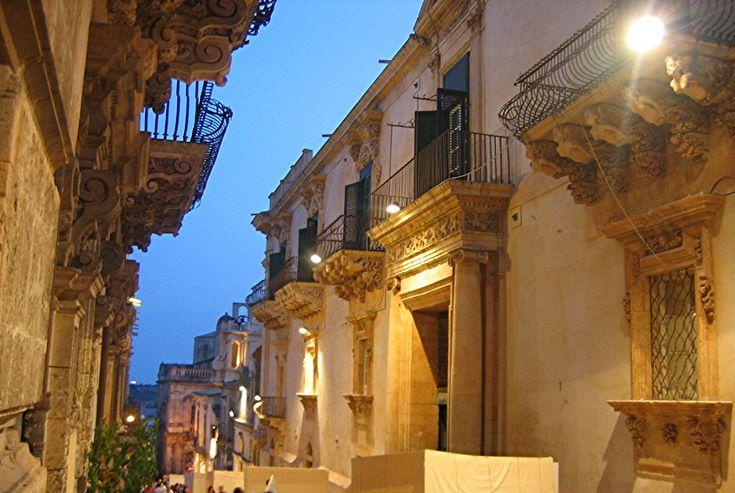 Noto,Via Nicolasi- Sicily