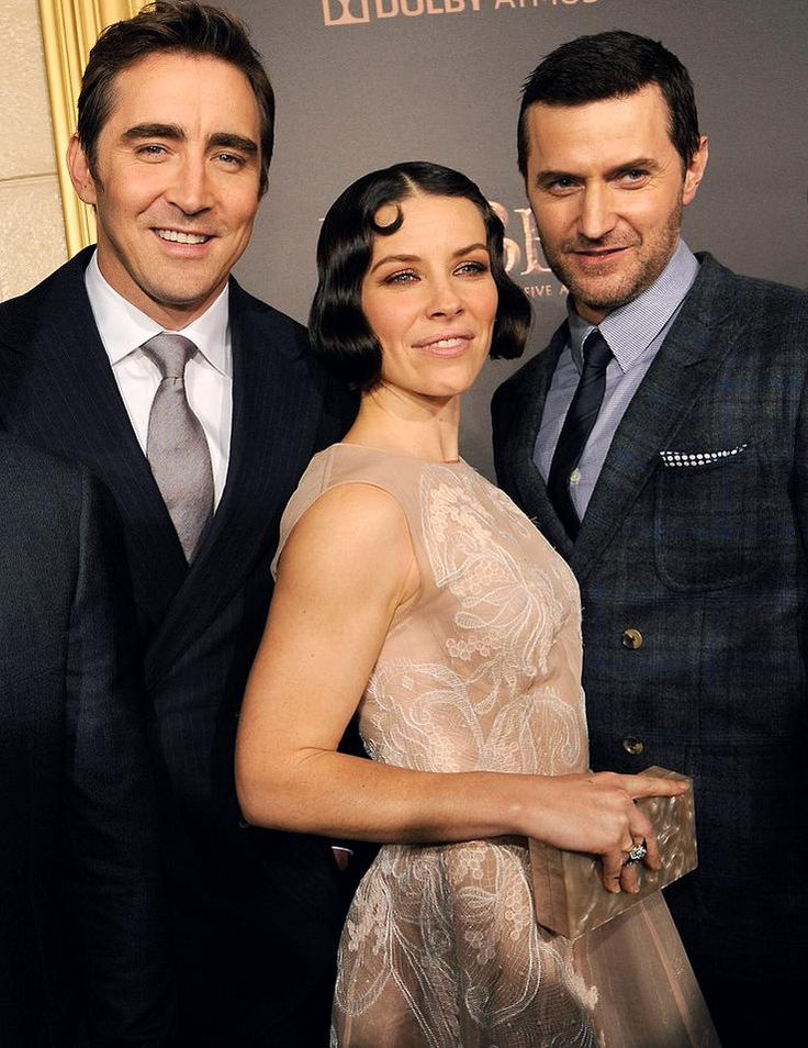 #LeePace, Evangeline Lilly, and #RichardArmitage at The Hobbit: The Battle of the Five Armies premiere in Los Angeles, Dec. 9, 2014.