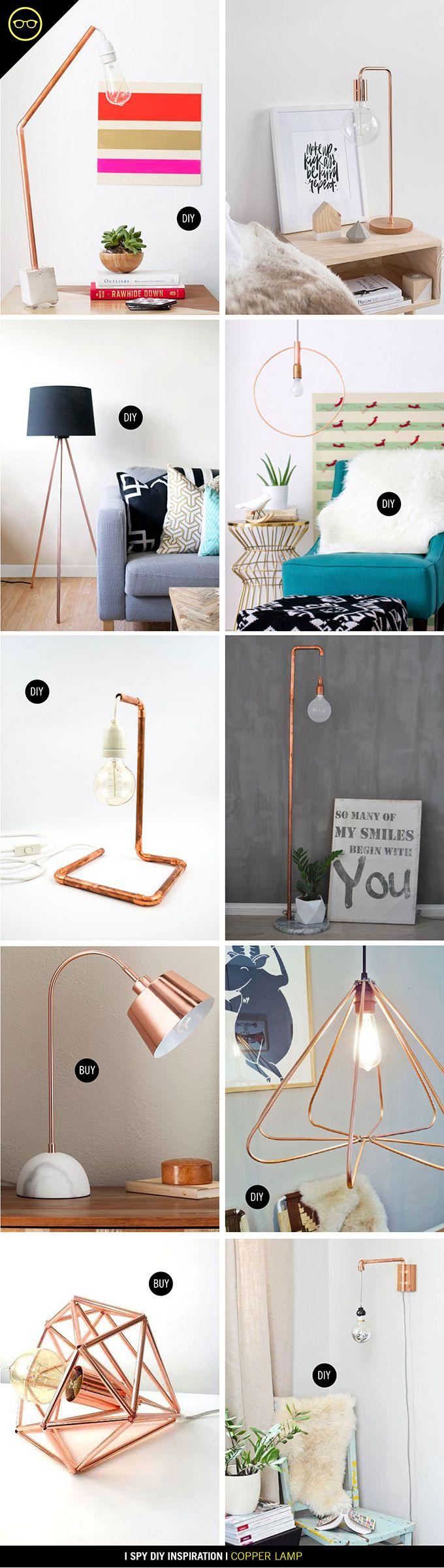 INSPIRATION | Copper Lamps | I Spy DIY | Bloglovin'