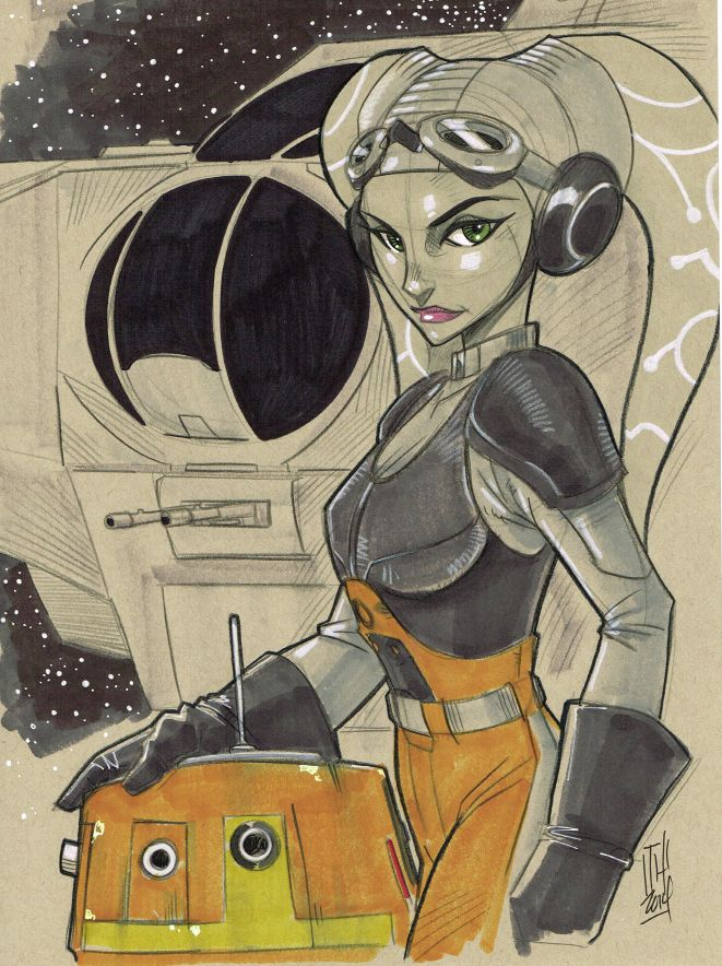 Hera Syndulla and Chopper from Star Wars Rebels by Hodges-Art on @DeviantArt