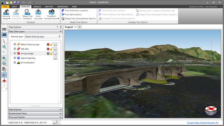HEC-RAS 3D model of the Old Stirling Bridge. The Battle of Stirling Bridge was a battle of the First War of Scottish Independence. On 11 September 1297, the forces of Andrew Moray and William Wallace defeated the combined English forces of  John de Warenne, 6th Earl of Surrey, and Hugh de Cressingham near Stirling, on the River Forth. https://en.wikipedia.org/wiki/Battle_of_Stirling_Bridge