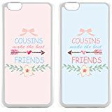 Cheap Best Cousin Ever Gifts Besties Bff Gifts Couple Matching Cases- Arrow Flowers Cousins Make The Best Friends iPhone deals week