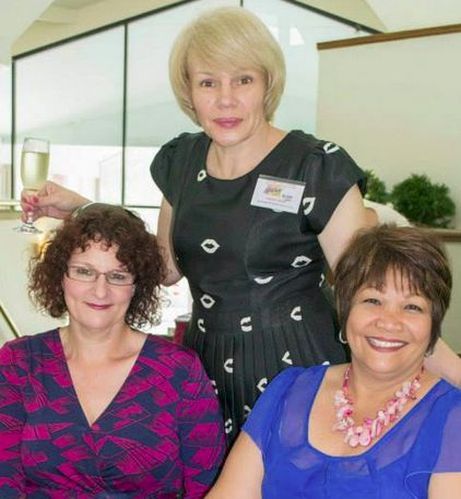 Here I am with Vacen Taylor (left) and her lovely friend at the Literary Luncheon 2013, on the Gold Coast.