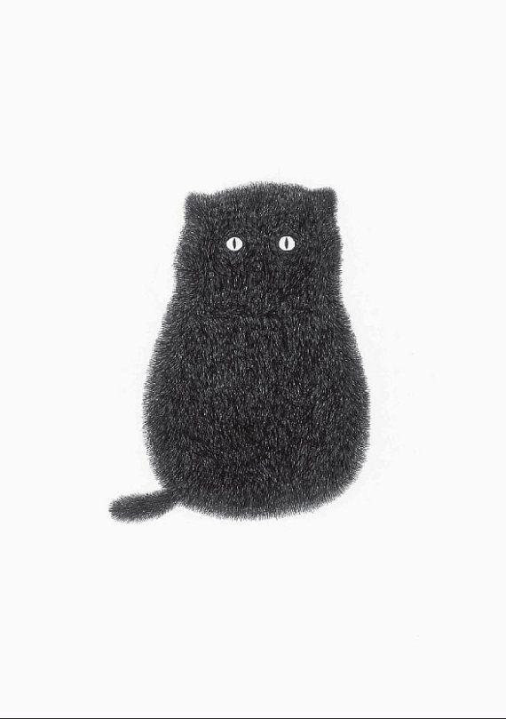 Kitty by kamweiatwork on #Etsy #cat