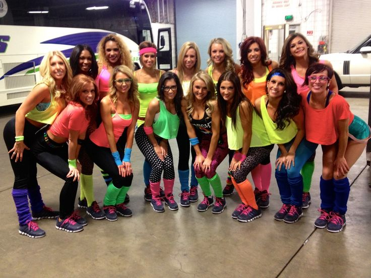 80s Workout Clothes Costumes | We took that photo in the back under the bleachers, right before we ...