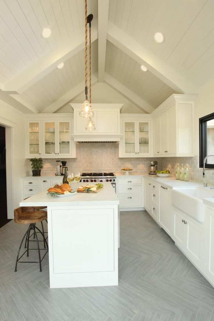 Kitchen cabinets vaulted ceiling - Find This Pin And More On Kitchen
