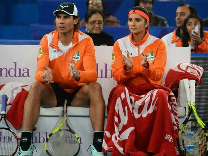 Latest updates : Davis Cup play-off  The singles matches will begin at 5pm and the doubles at 7pm (local time) as part of the Delhi Lawn Tennis Association's experiment to bring more fans.  Sania Mirza will support Rafa or India's team ?
