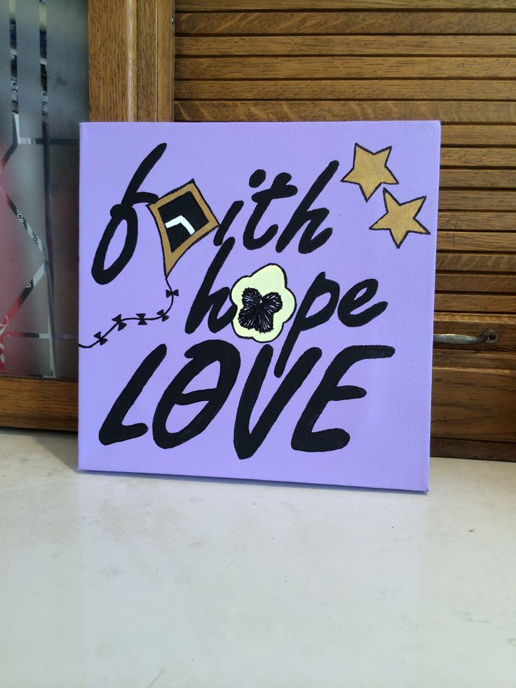 Trying to win over the heart of my future little via craft! Kappa Alpha Theta canvas.