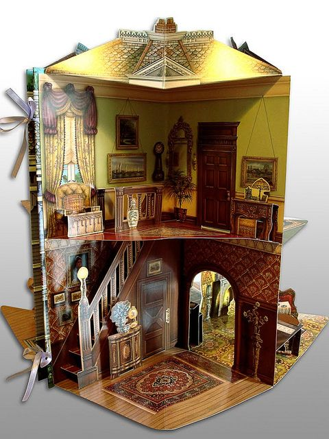 Victorian paper doll house by PamiFashionDolls, via Flickr