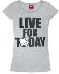 """""""Live For Today"""" Hello Kitty Top <3"""