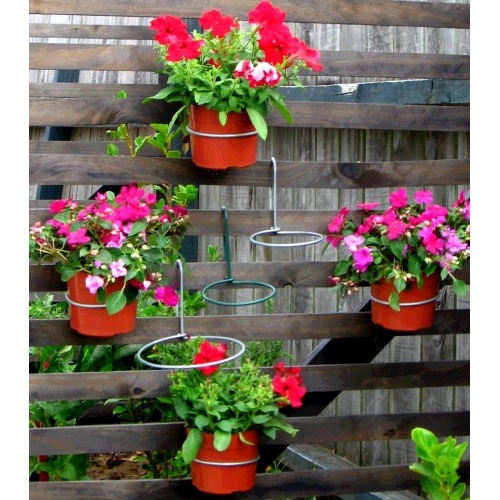 Fence Plant Hangers: Over The Fence Pot Plant Hanger