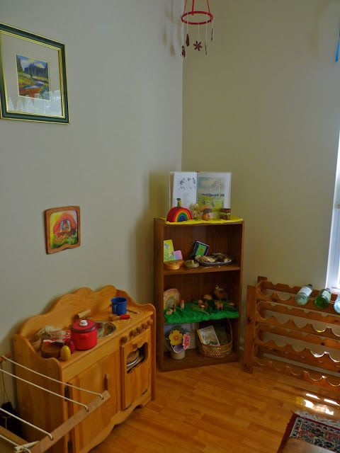 Natural Wooden Play Kitchen from Elves and Angels