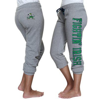 Notre Dame Fighting Irish Ladies Razzle Dazzle Sequin Capri Pants – Ash