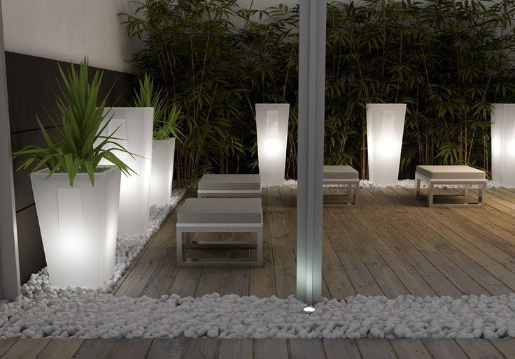 light flower pots in winter garden - Pasubio Alto Light Terraform.pl