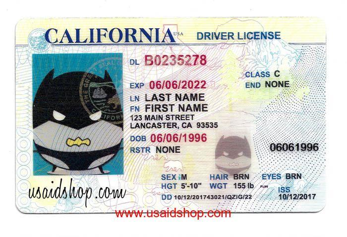 California Fake Ids Moving To California Id Card Template California