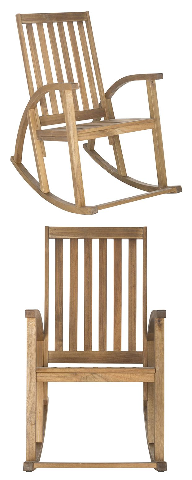 Enjoy the serene sights of your back or front yard from the comfort of this soothing outdoor staple. Crafted from elegant and sustainable acacia wood, the Tiverton Outdoor Rocking Chair is built for lo...  Find the Tiverton Outdoor Rocking Chair, as seen in the Rustic-Modern at the Baixa Lisbon Collection at http://dotandbo.com/collections/rustic-modern-at-the-baixa-lisbon?utm_source=pinterest&utm_medium=organic&db_sku=118190
