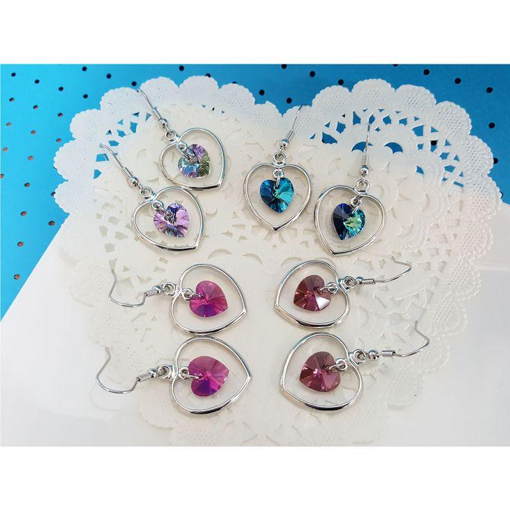 Korean Fashion Jewelry New 4 colors Heart to Heart Earring for Women Girls #Rielar #Hook
