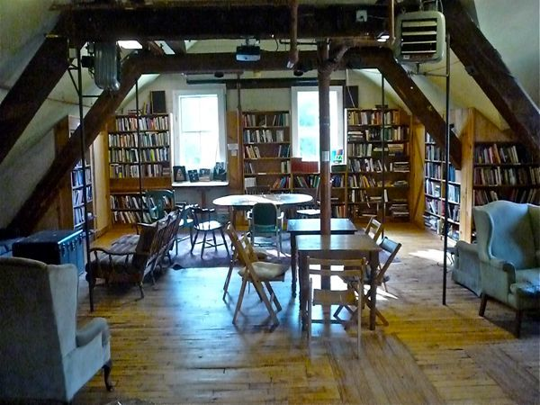 Montague Bookmill book room, Montague MA