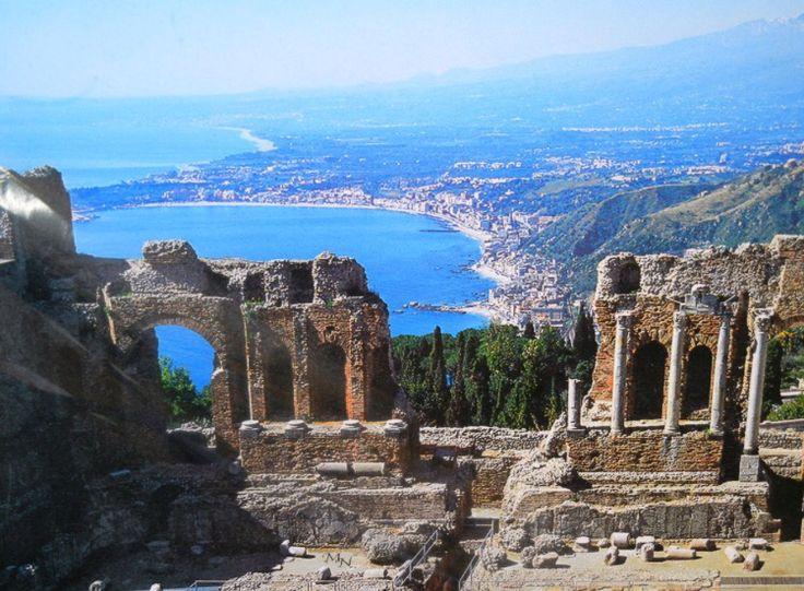 Il mare di Taormina Sicily Sicilia, Italia, Luoghi