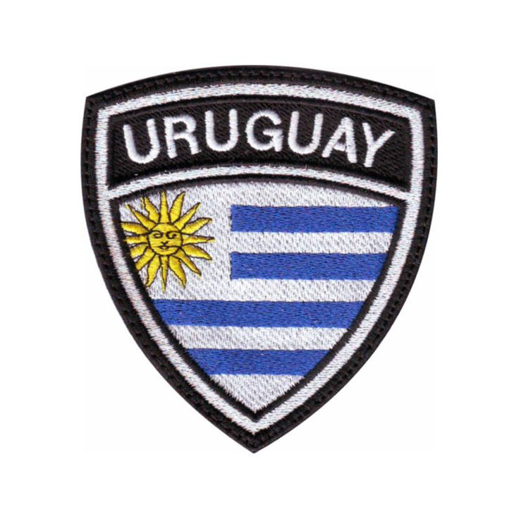 URUGUAY FLAG CREST EMBROIDERED PATCH #ThePatchLab