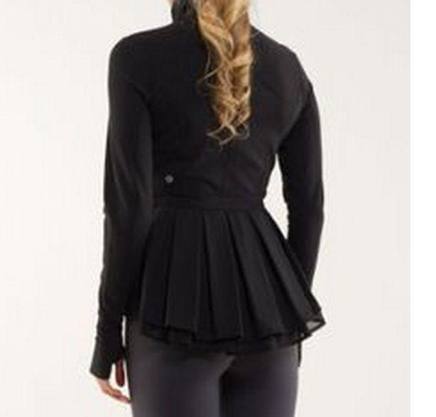 Rare! Lululemon Black Riding Jacket Size 6 Luon Ruffled Peplum Fitted Worn Once! #Lululemon #CoatsJackets