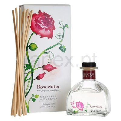 Crabtree & Evelyn Rosewater Difusor e carga de aroma   (Home Fragrance Reed Diffuser) | fapex.pt