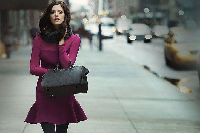 Эшли Грин в осенней кампании DKNY