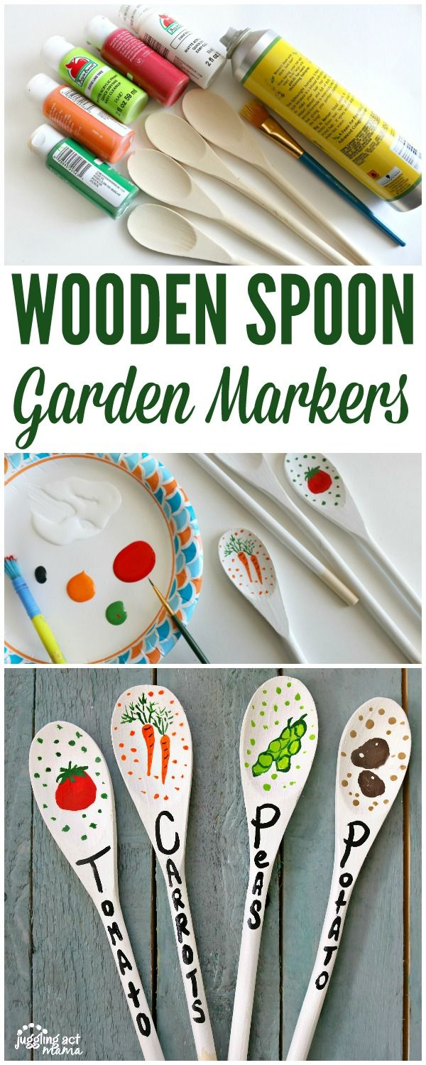 Wooden Spoon Garden Markers are a fun and cute project you can do to add a…