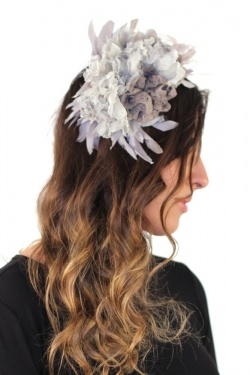Malababa Galia Hairband Fascinator in Topo