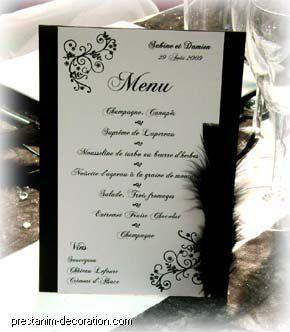 Mariage noir et blanc décoration - Décoration mariage - Touslesmariages.com