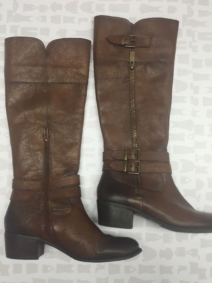Arturo Chiang Women's Brown Leather Calf Riding Boots Size 8 5   eBay