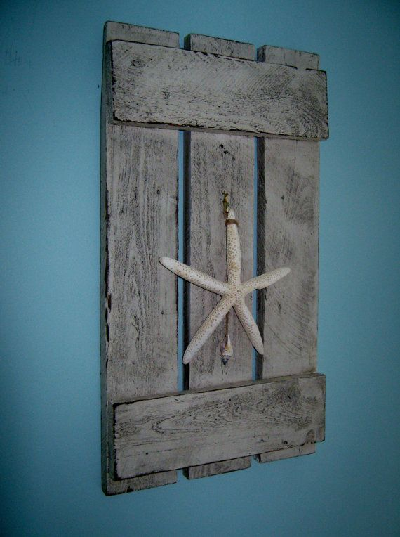 Wood Pallet Shutter in Driftwood Stain by PineTerraceTreasures, $34.99