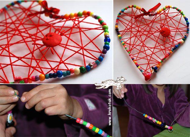 Make a metal hanger - heart:)