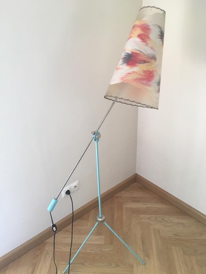 Lampa stojąca, Polska, lata 60-te (Stołeczne Zakłady Metalowe Nr 2 - tabliczka znamionowa). Projekt - Apolinary Gałecki. https://www.facebook.com/zjednoczenie/posts/1066379476780672