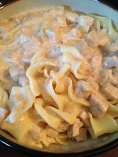 Pork Stroganoff. A great way to use up leftover pork. Creamy and delicious. Oh and very easy to make!