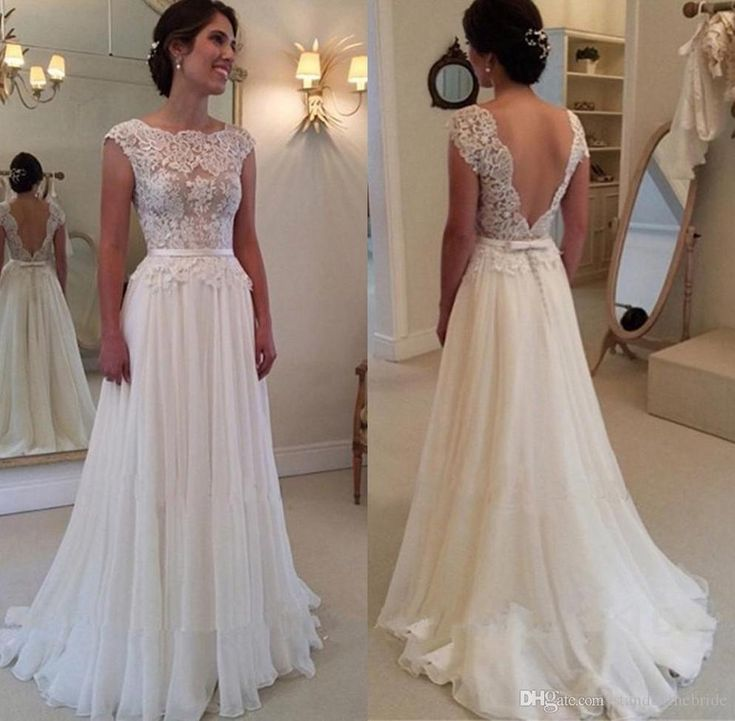 2017 Vintage Lace A-Line Wedding Dresses Plus Size abiti da sposa Dress for Bride Bridal Gowns Tulle Country See Through Backless 17049