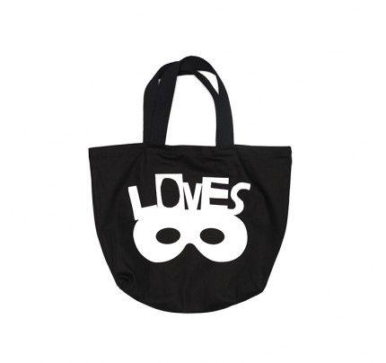 Large Beau Loves Bag Black by London based kids fashion brand.