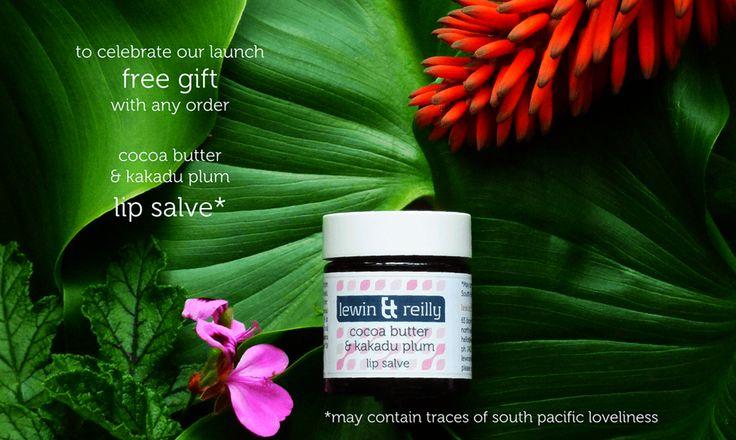 lewin & reilly organic & wild harvested skin care Australia. Cocoa butter & kakadu plum lip salve.   http://www.lewinandreilly.com.au/collections/all/products/cocoa-butter-kakadu-plum-womens-lip-salve