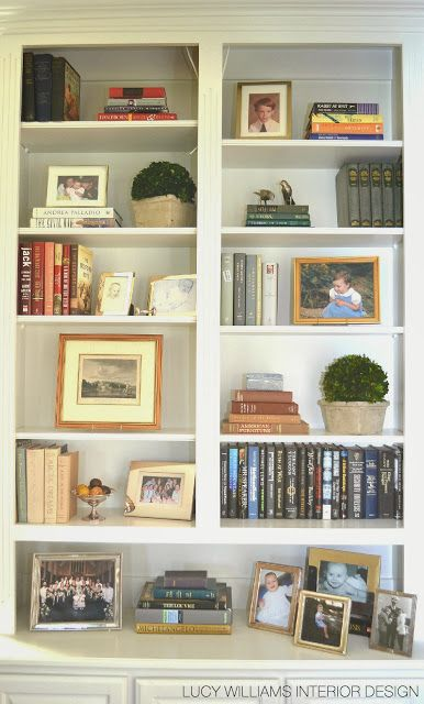 LUCY WILLIAMS INTERIOR DESIGN BLOG BEFORE AND AFTER LIVING ROOM BOOKCASE Decorating BookshelvesArranging