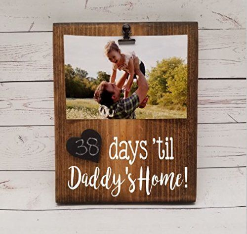 Military Deployment Days Countdown Calendar, Reusable Chalkboard Tracker for days until Daddy's (or Mommy's) home