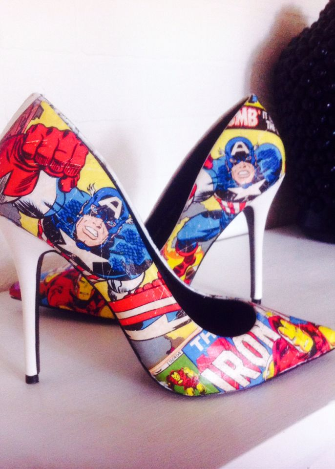 #marvel #funky #superhero #shoes. Decoupage FurnitureSuperheroMarvel