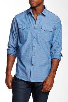 James Campbell Fitz Long Sleeve Printed Shirt