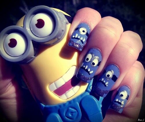 Minions purple and yellow love them all