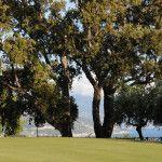 Grand Hotel San Michele sul mare in Calabria. L' albergo dei tuoi sogni immerso nel verde e circondato dal blu. Il campo da golf del Golf club San Michele: green della buca 9