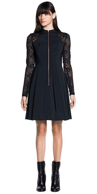 CUE - Tech Stretch Lace Contrast Dress